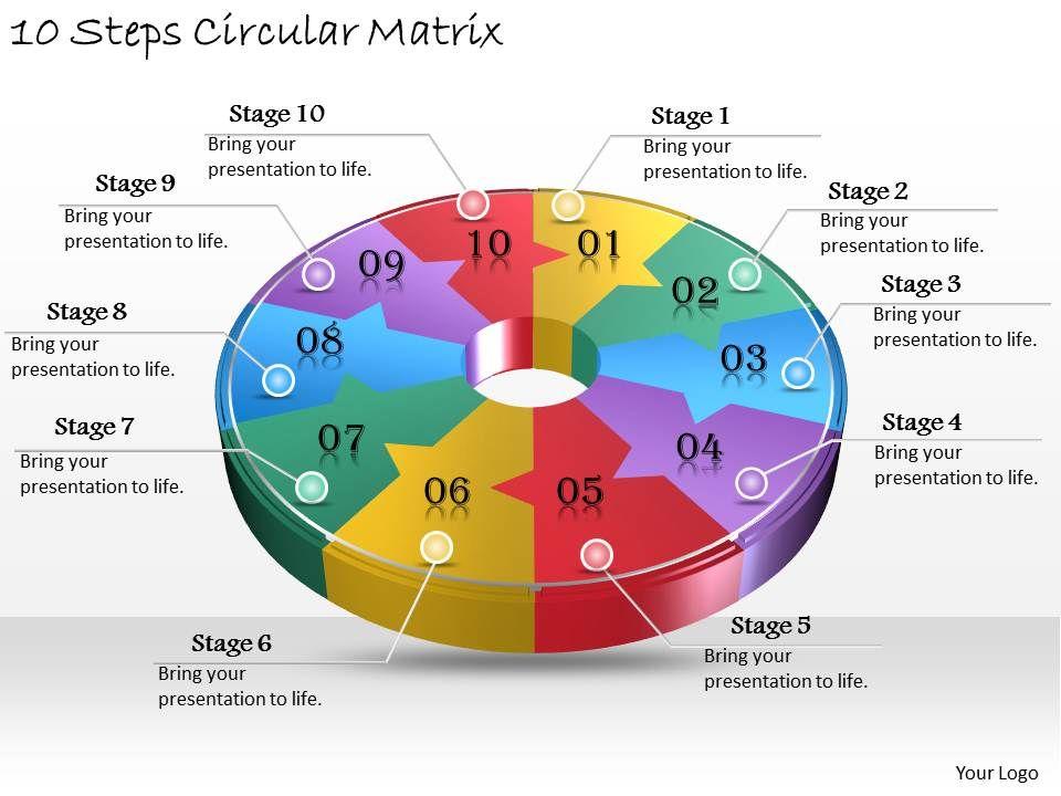 1013_business_ppt_diagram_10_steps_circular_matrix_powerpoint_template_Slide01