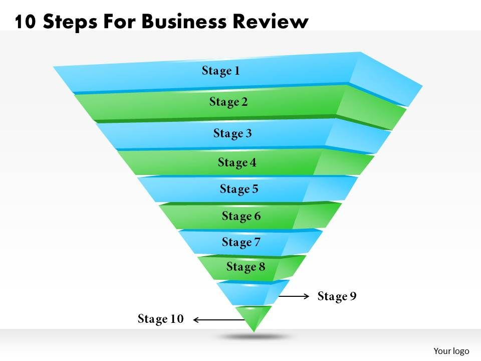 1013 Business Ppt diagram 10 Steps For Business Review Powerpoint – Business Review Template