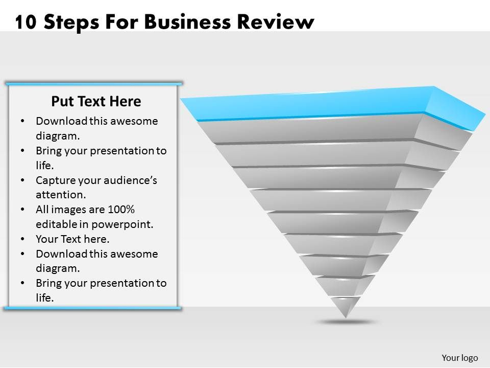 Business Ppt Diagram  Steps For Business Review Powerpoint