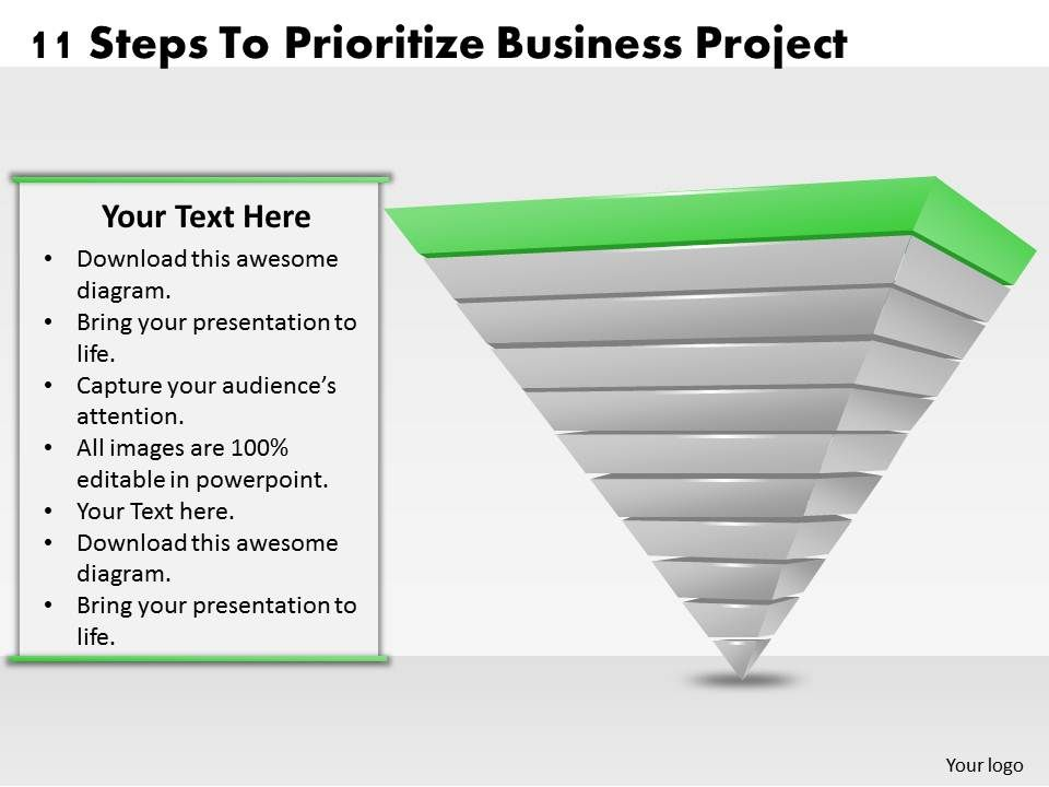 Business Ppt Diagram  Steps To Prioritize Business Project