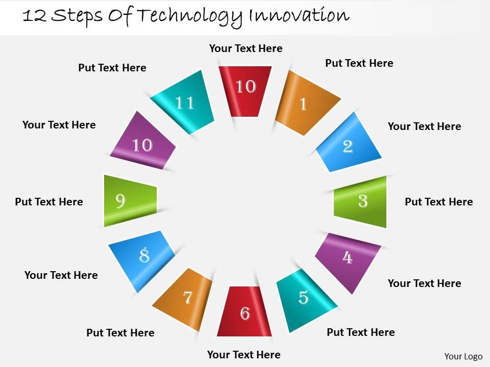 1013 business ppt diagram 12 steps of technology innovation