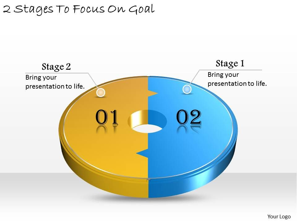 b2a75bfb5637 1013 business ppt diagram 2 stages to focus on goal powerpoint template Slide01