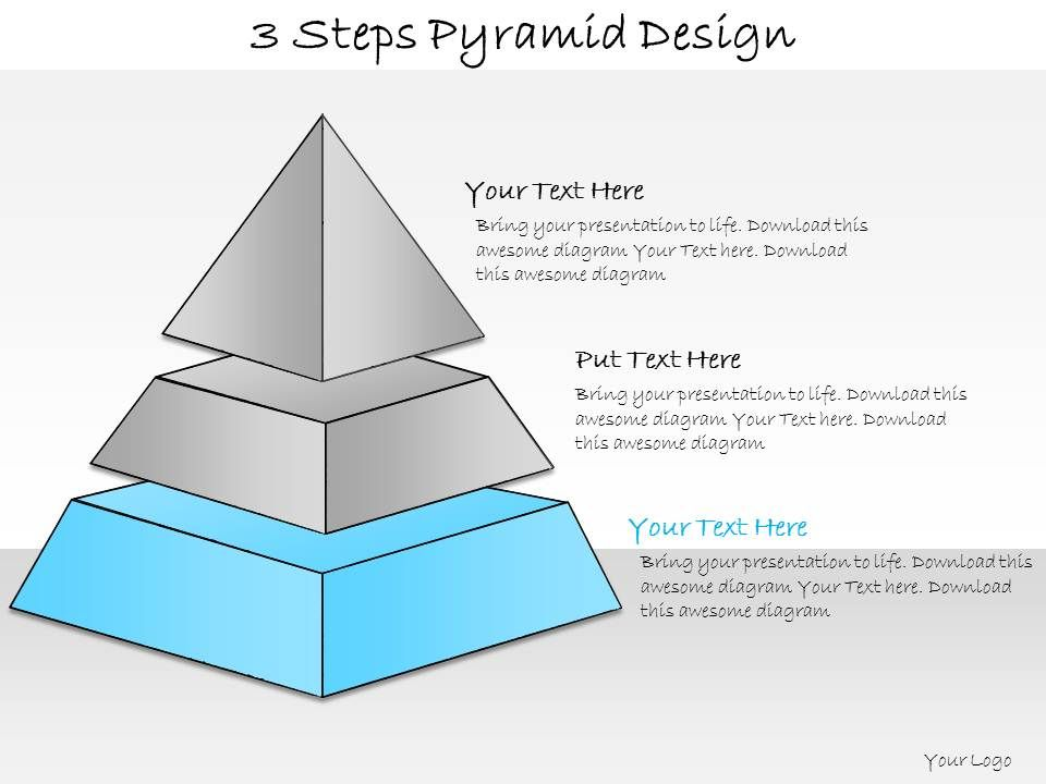 1013 Business Ppt Diagram 3 Steps Pyramid Design Powerpoint