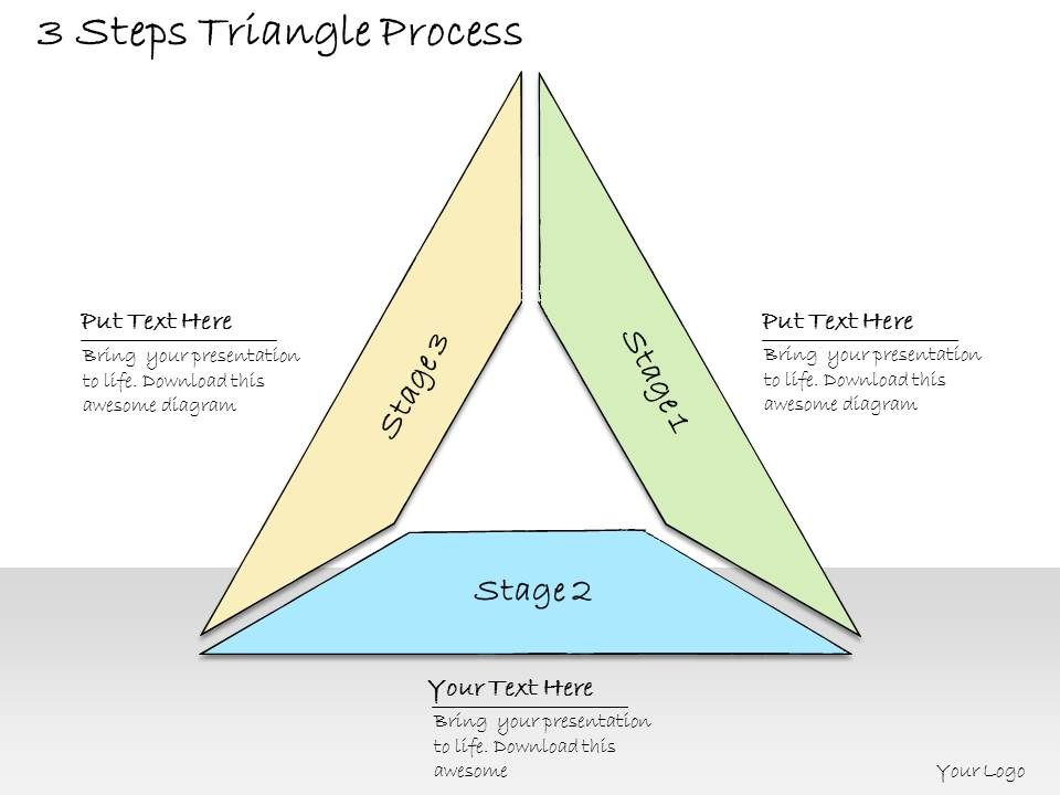1013 Business Ppt Diagram 3 Steps Triangle Process Powerpoint