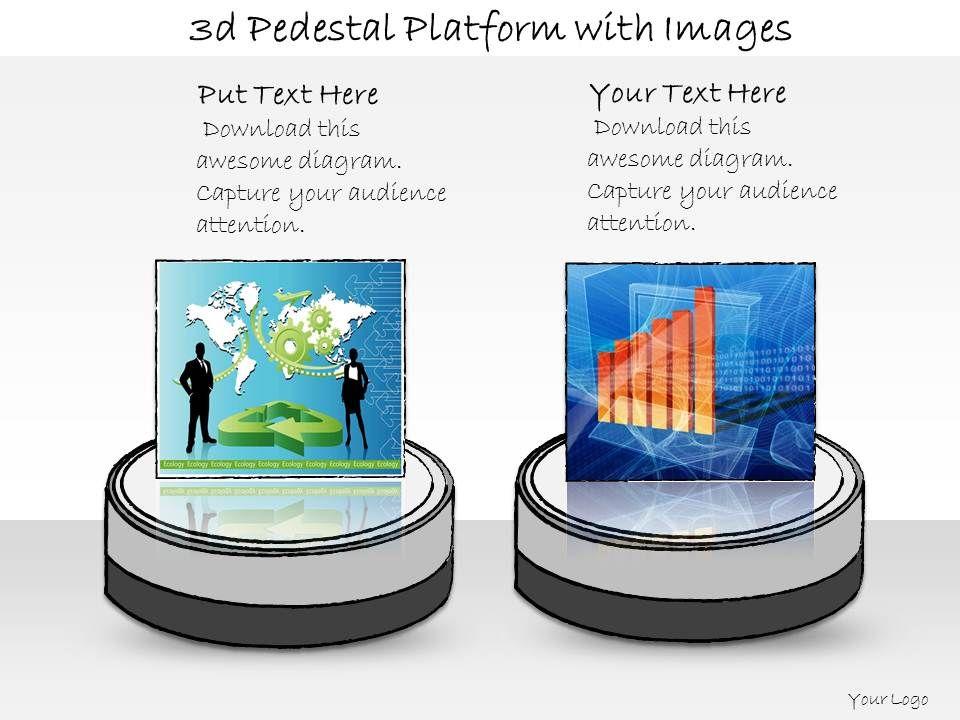 1013_business_ppt_diagram_3d_pedestal_platform_with_images_powerpoint_template_Slide01