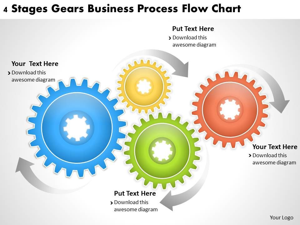 1013_business_ppt_diagram_4_stages_gears_business_process_flow_chart_powerpoint_template_Slide01