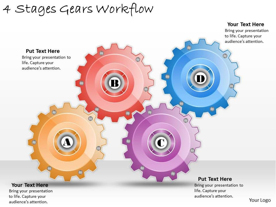 1013_business_ppt_diagram_4_stages_gears_workflow_powerpoint_template_Slide01