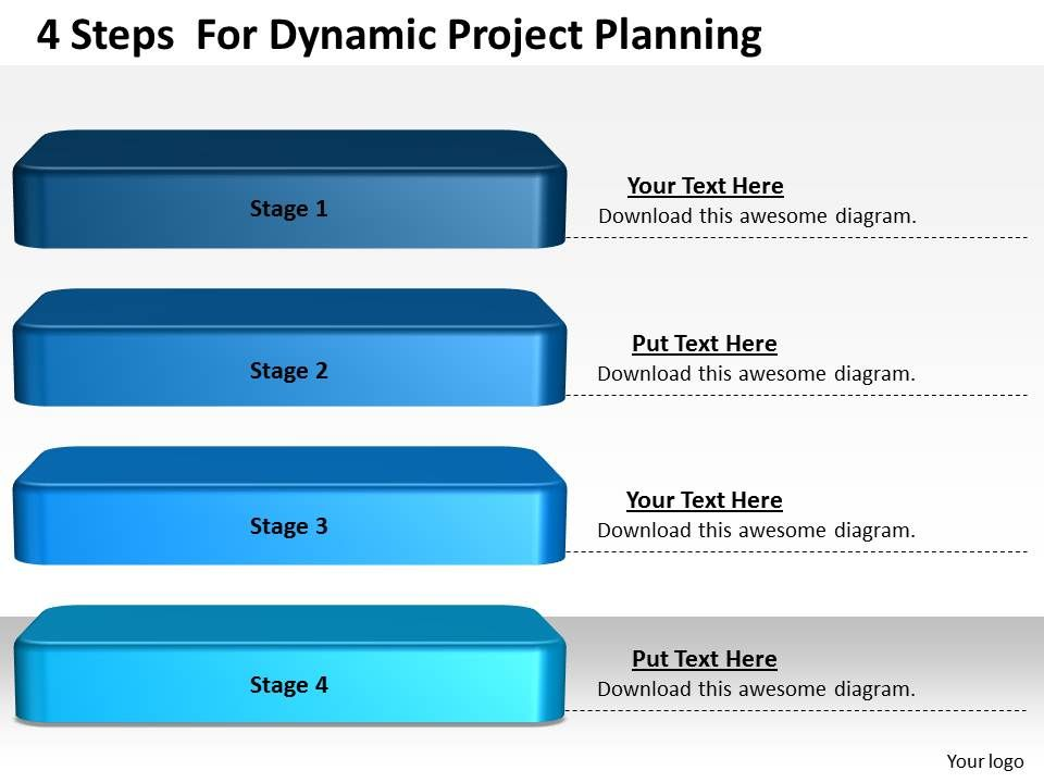 1013 business ppt diagram 4 steps for dynamic project planning, Presentation templates