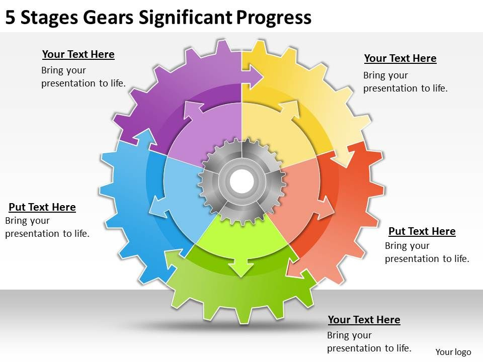 1013_business_ppt_diagram_5_stages_gears_significant_progress_powerpoint_template_Slide01