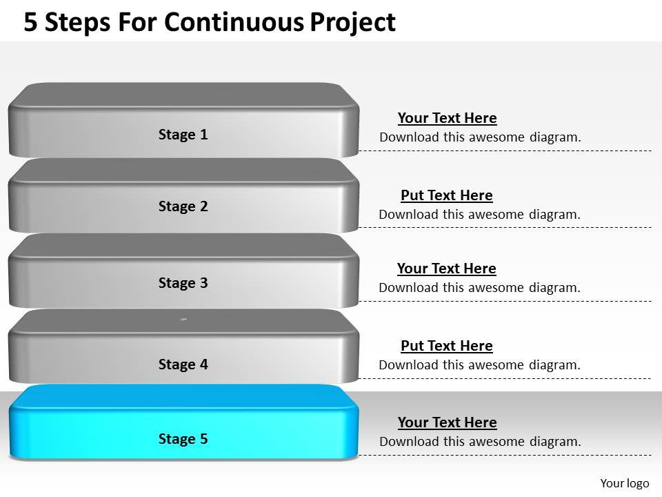 1013 business ppt diagram 5 steps for continuous project