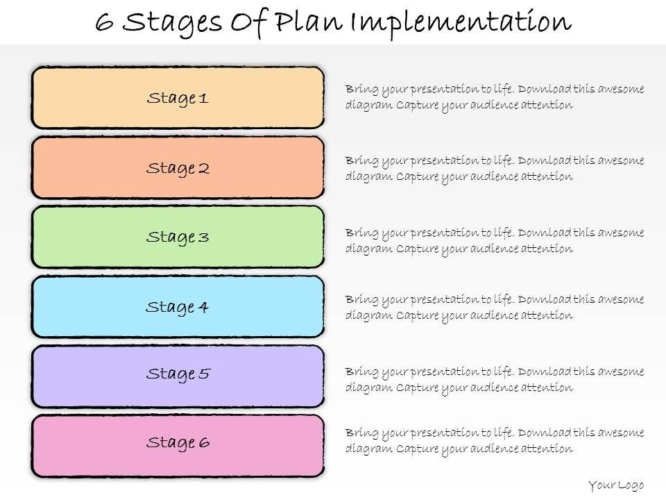 1013 Business Ppt Diagram 6 Stages Of Plan Implementation – Implementation Plan Template