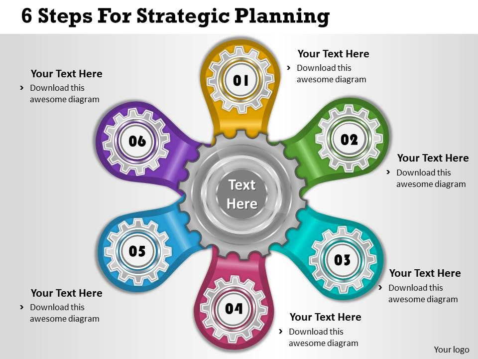 1013 Business Ppt Diagram 6 Steps For Strategic Planning