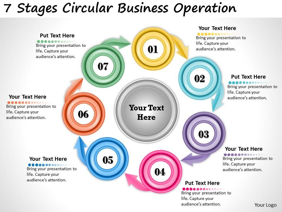 1013 Business Ppt Diagram 7 Stages Circular Business