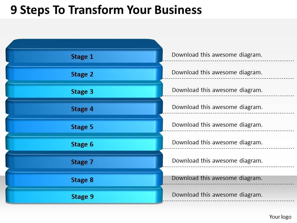1013_business_ppt_diagram_9_steps_to_transform_your_business_powerpoint_template_Slide01