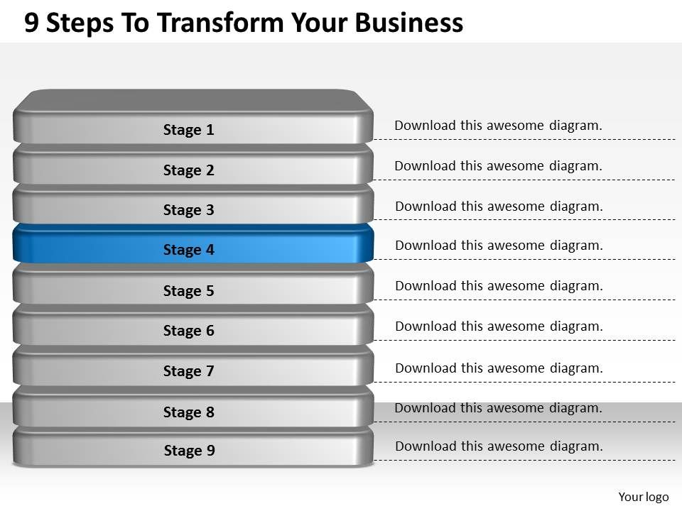1013 business ppt diagram 9 steps to transform your