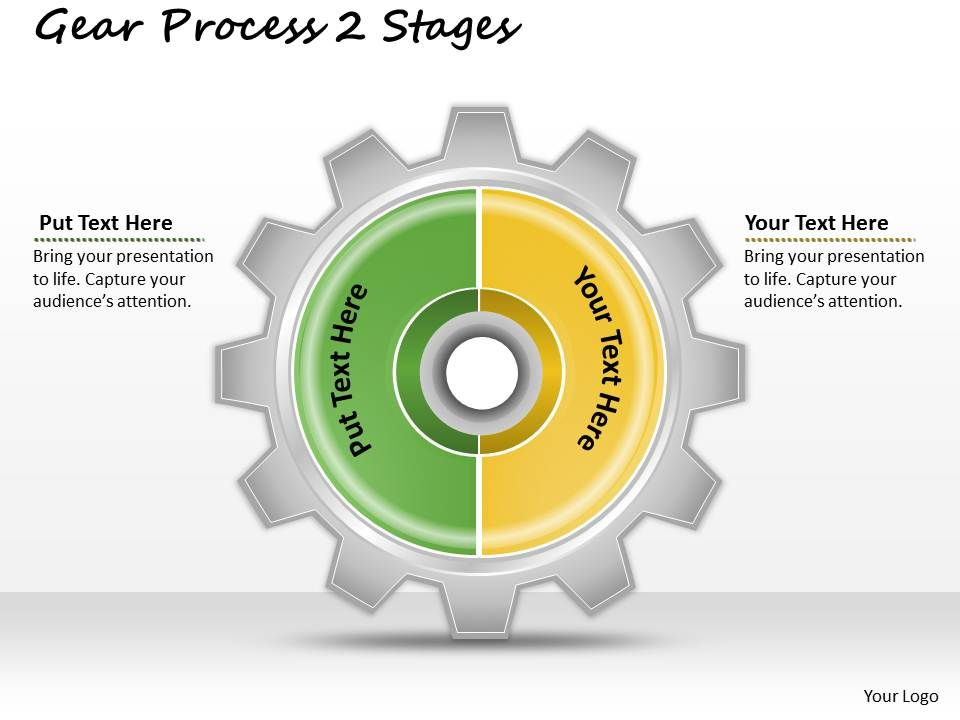 1013_business_ppt_diagram_gear_process_2_stages_powerpoint_template_Slide01