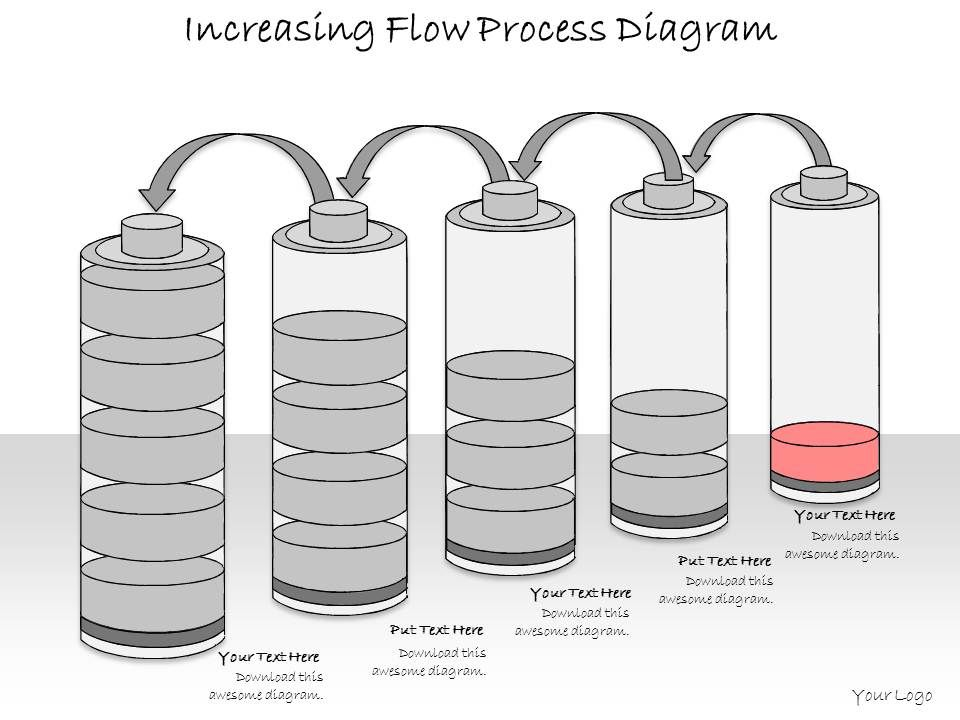 1013 Business Ppt Diagram Increasing Flow Process Diagram