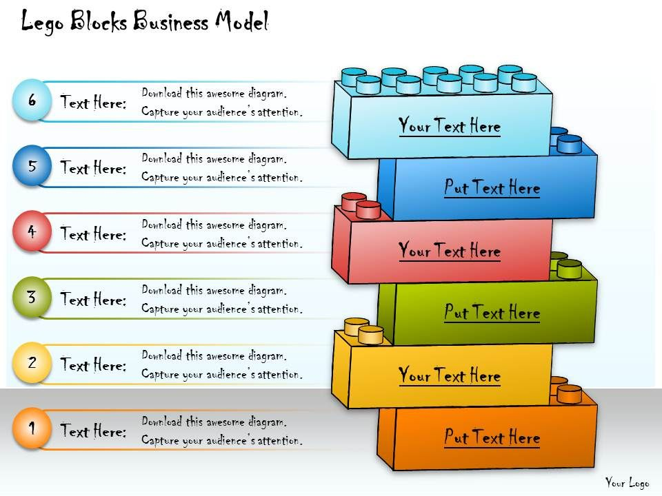 1013 Business Ppt Diagram Lego Blocks Business Model Powerpoint