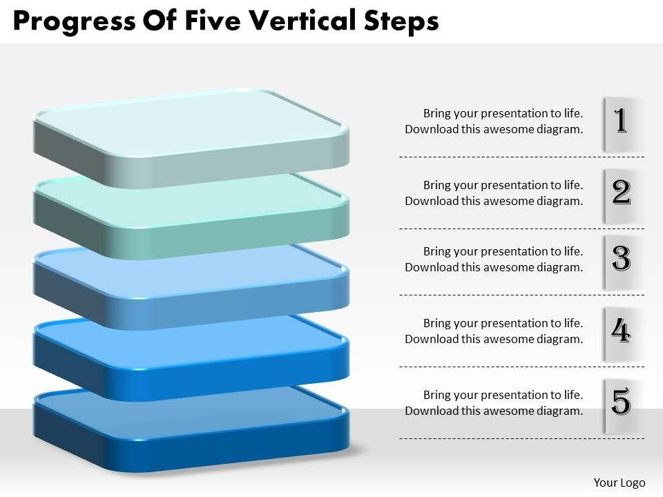 1013_business_ppt_diagram_progress_of_five_vertical_steps_powerpoint_template_Slide01