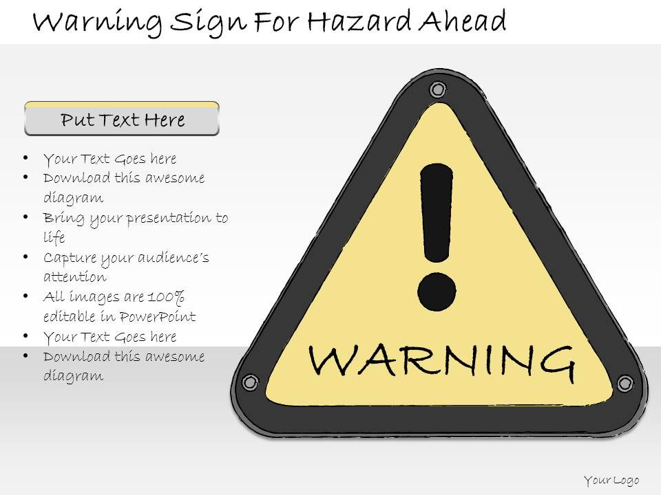 1013_business_ppt_diagram_warning_sign_for_hazard_ahead_powerpoint_template_Slide01