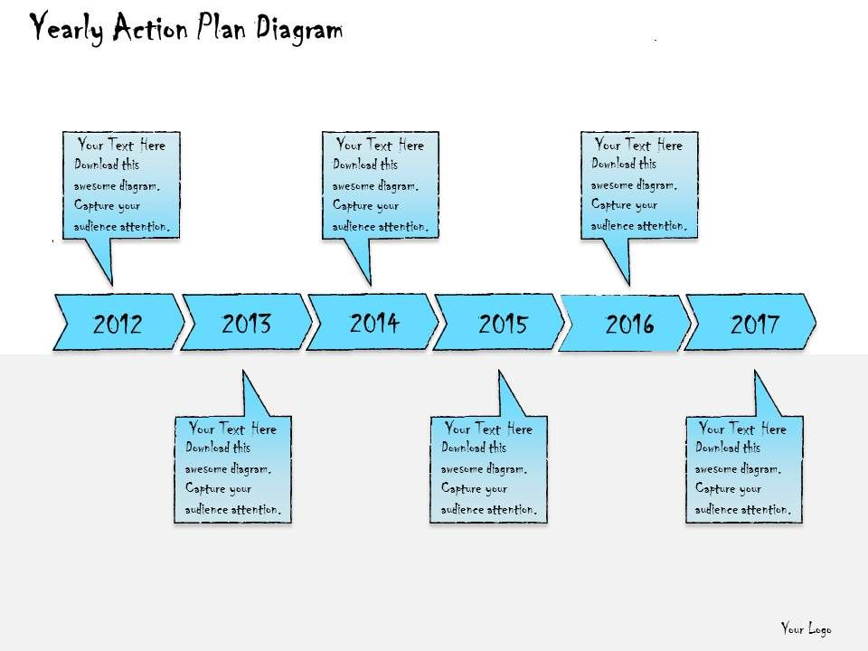 1013 Business Ppt Diagram Yearly Action Plan Diagram Powerpoint ...