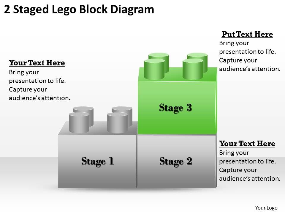 1013 strategy consultant 2 staged lego block diagram ... block diagram powerpoint #12