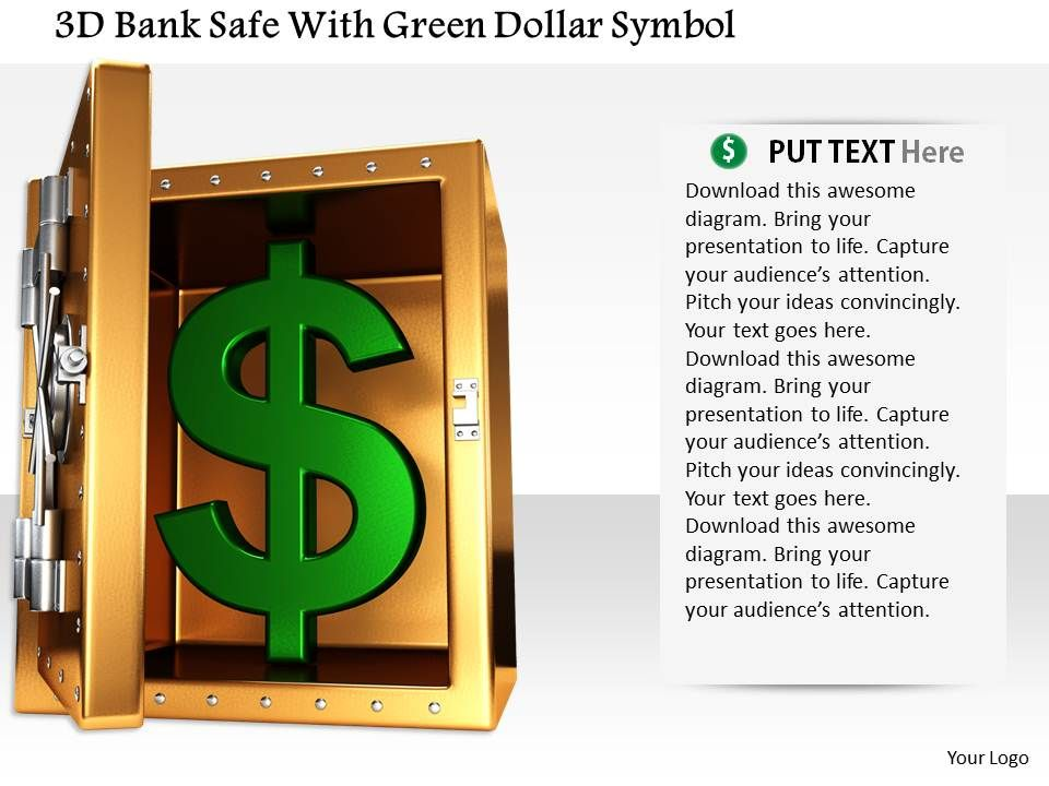 1014_3d_bank_safe_with_green_dollar_symbol_image_graphics_for_powerpoint_Slide01