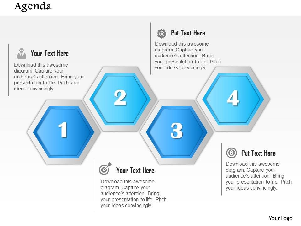 1014_abstract_four_steps_agenda_diagram_powerpoint_template_Slide01 1014 abstract four steps agenda diagram powerpoint template