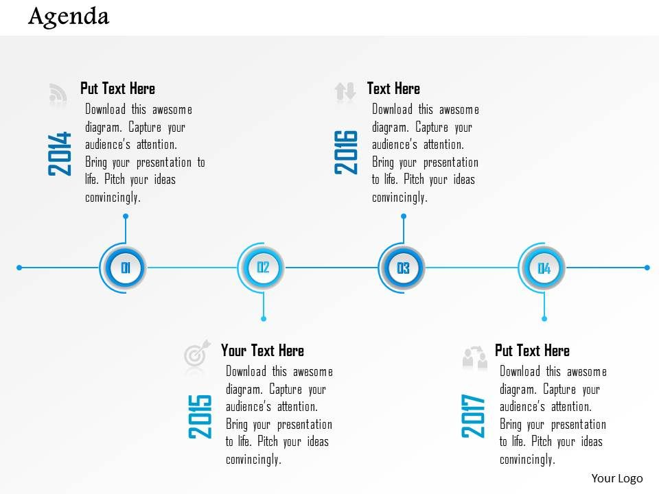 Business Plan Four Steps Timeline Agenda Diagram Powerpoint - Awesome example of business plan presentation powerpoint ideas
