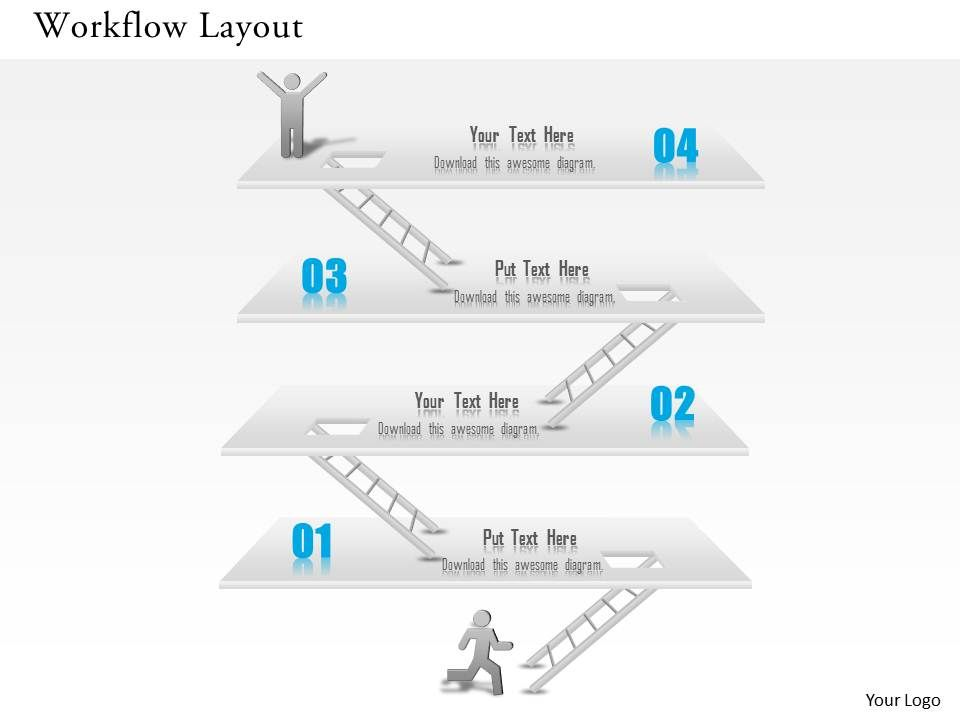 1014 business plan workflow layout achievement success diagram, Modern powerpoint