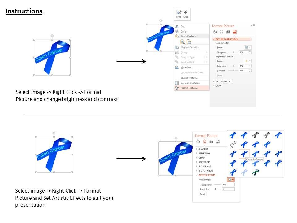 1014 Dark Blue Awareness Ribbon For Colon Cancer Image Graphics For Powerpoint Templates Powerpoint Presentation Slides Template Ppt Slides Presentation Graphics