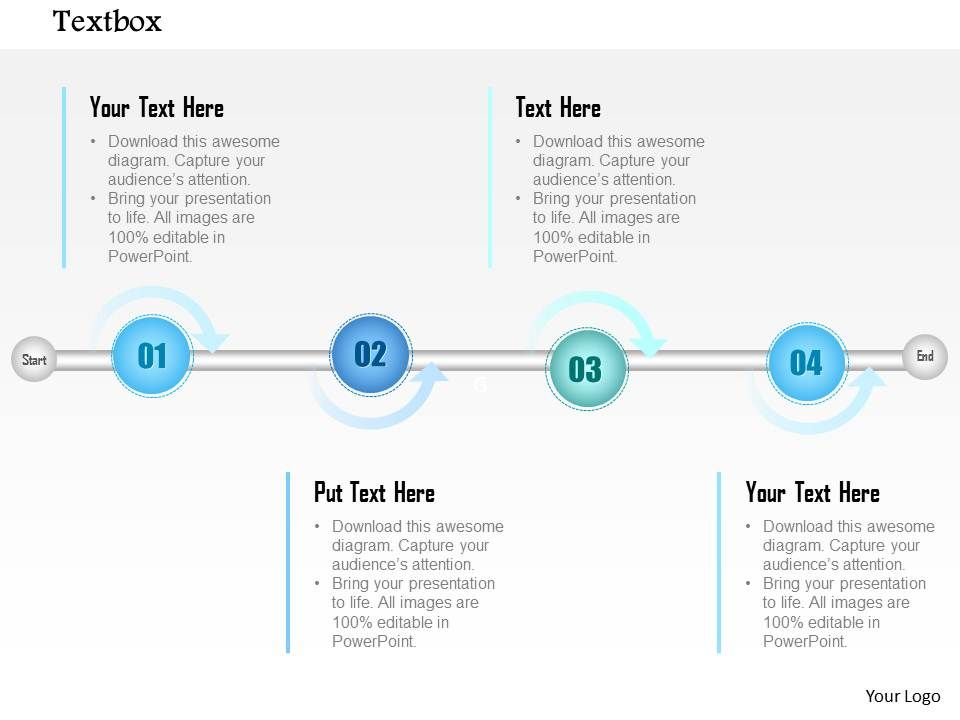 1014 four points timeline graphic powerpoint template powerpoint