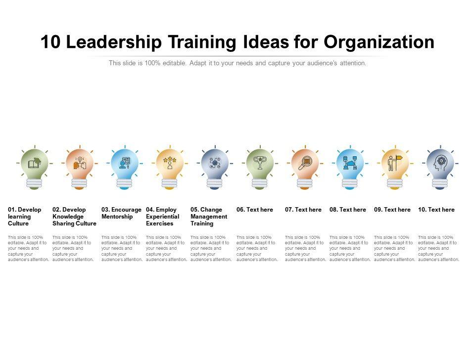 10 Leadership Training Ideas For Organization