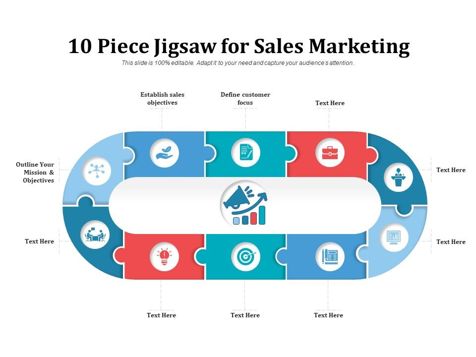 10 Piece Jigsaw For Sales Marketing
