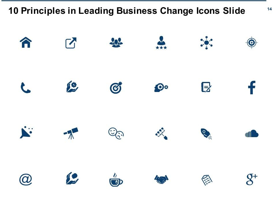 10 Principles In Leading Business Change Powerpoint