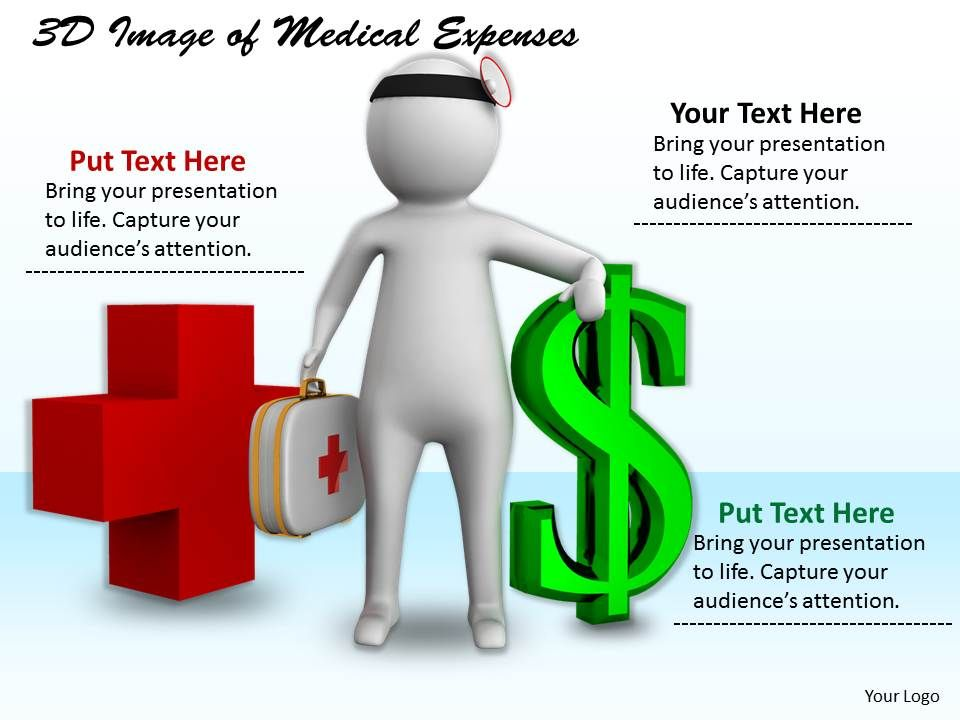 1113_3d_image_of_medical_expenses_ppt_graphics_icons_powerpoint_Slide01