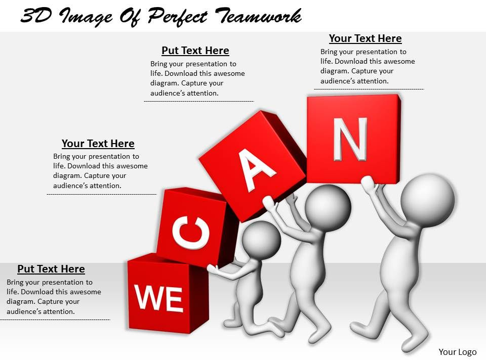 1113 3d image of perfect teamwork ppt graphics icons powerpoint