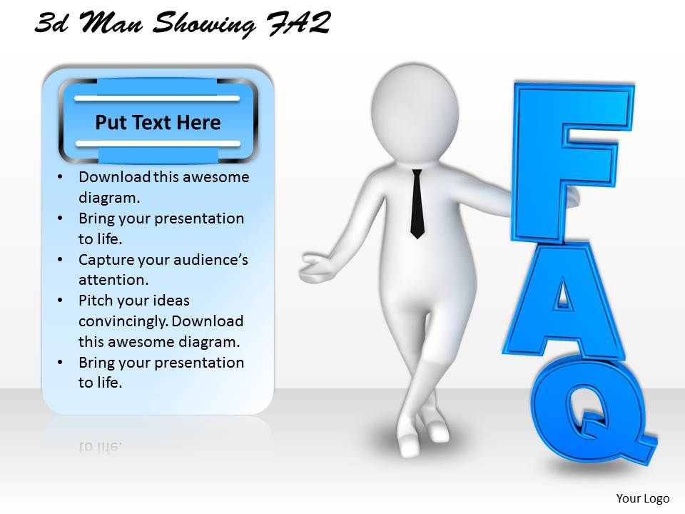 1113_3d_man_showing_faq_ppt_graphics_icons_powerpoint_Slide01