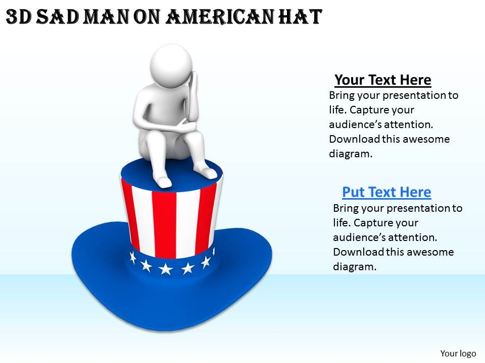 1113_3d_sad_man_on_american_hat_ppt_graphics_icons_powerpoint_Slide01