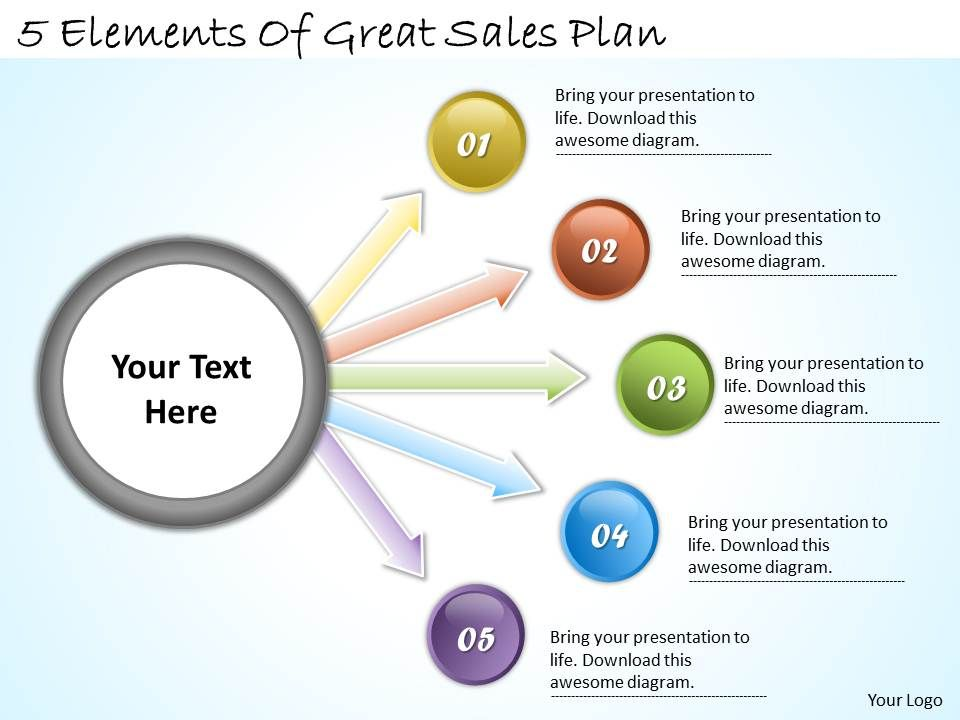 1113_business_ppt_diagram_5_elements_of_great_sales_plan_powerpoint_template_Slide01