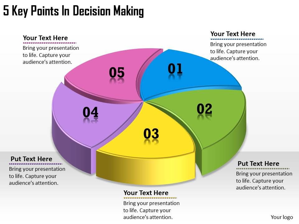 1113 business ppt diagram 5 key points in decision making powerpoint
