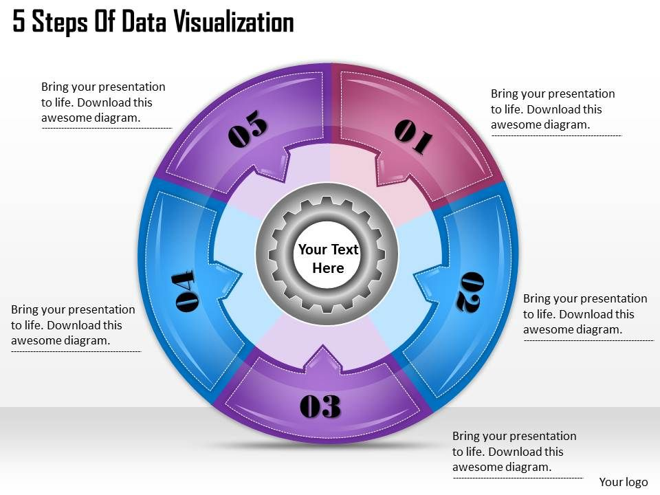 1113 Business Ppt Diagram 5 Steps Of Data Visualization Powerpoint