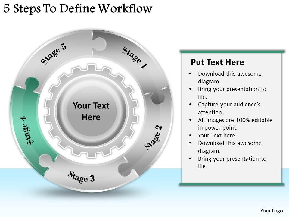 1113 business ppt diagram 5 steps to define workflow powerpoint template. Black Bedroom Furniture Sets. Home Design Ideas
