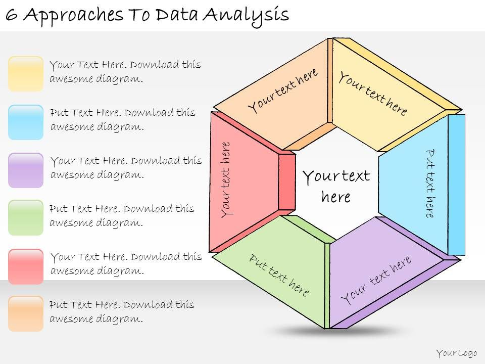 1113 Business Ppt Diagram 6 Approaches To Data Analysis Powerpoint