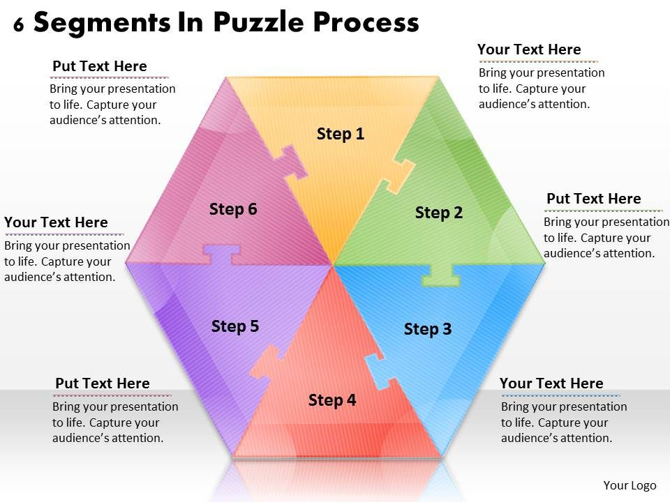 1113_business_ppt_diagram_6_segments_in_puzzle_process_powerpoint_template_Slide01