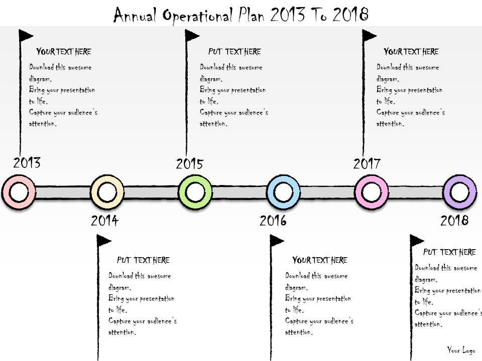 1113_business_ppt_diagram_annual_operational_plan_2013_to_2018_powerpoint_template_Slide01