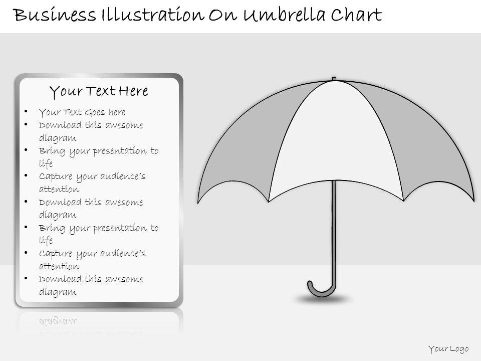 1113 Business Ppt Diagram Business Illustration On Umbrella Chart