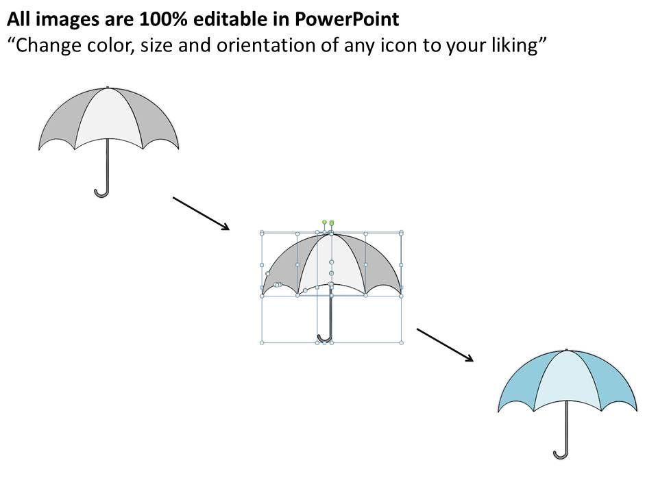 1113 Business Ppt Diagram Business Illustration On Umbrella Chart ...