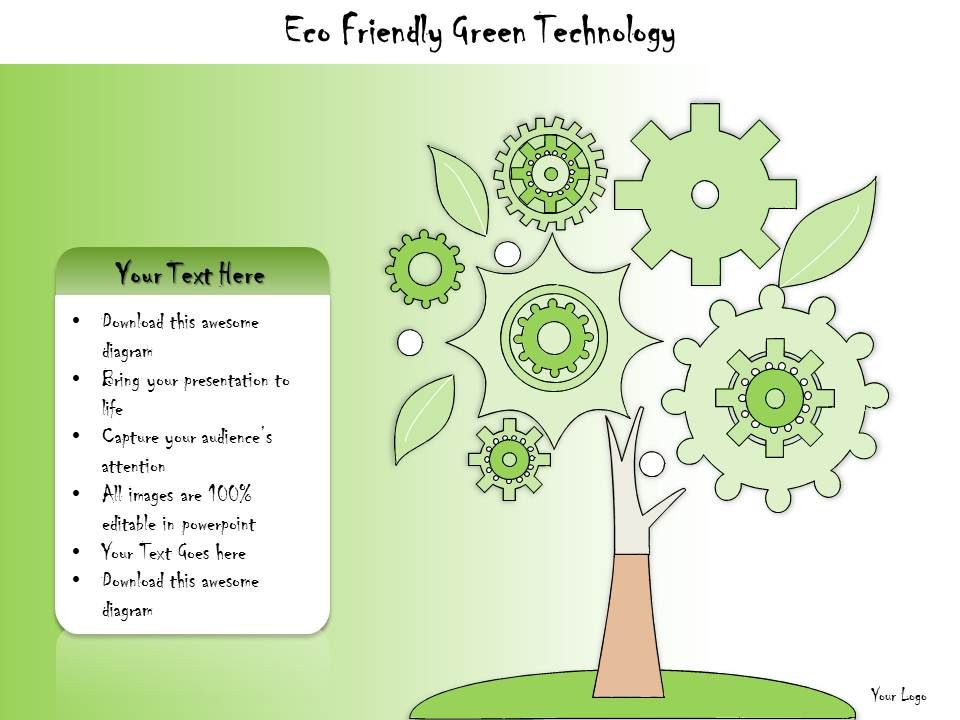 1113 business ppt diagram eco friendly green technology Examples of green technology