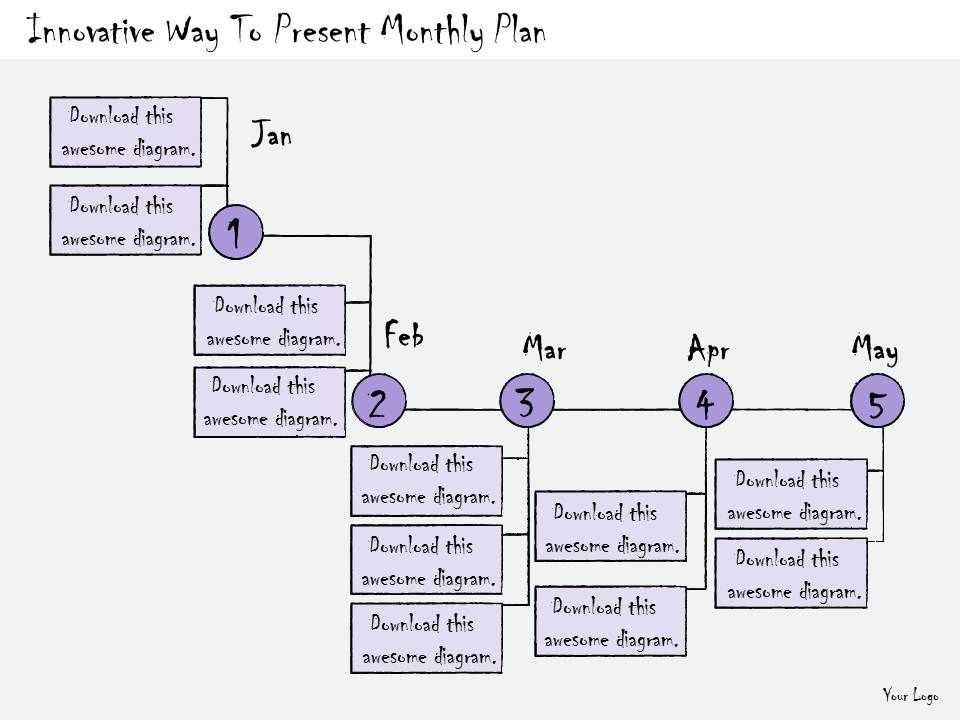 1113_business_ppt_diagram_innovative_way_to_present_monthly_plan_powerpoint_template_Slide01